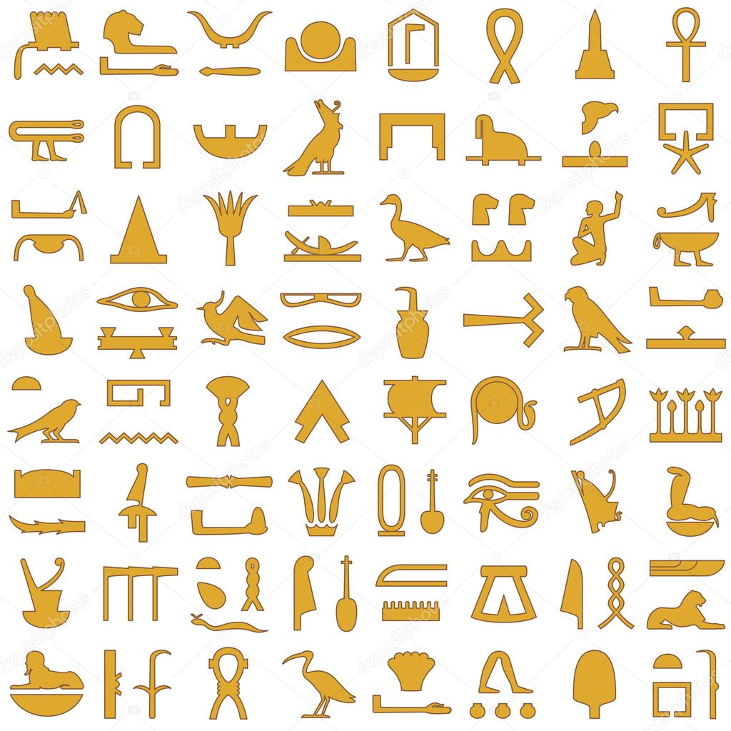 Egyptian hieroglyphs decorative set 2 stock vector artyup 26858891 a collection of ancient egyptian symbolsrious egyptian hieroglyphs vector by artyup buycottarizona Choice Image