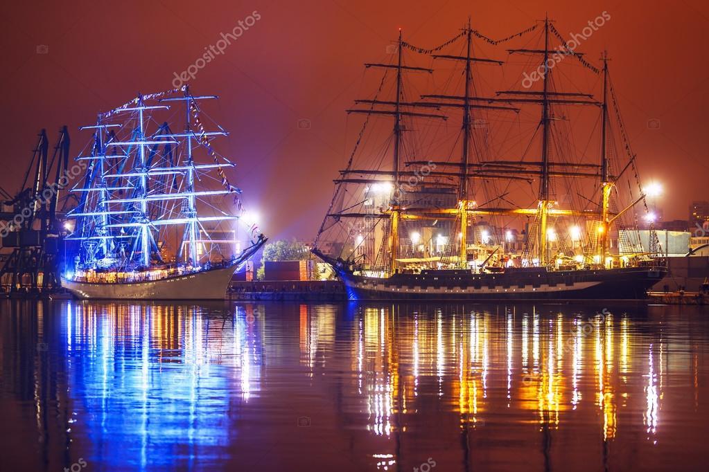 Night view of Tall Ships Regatta