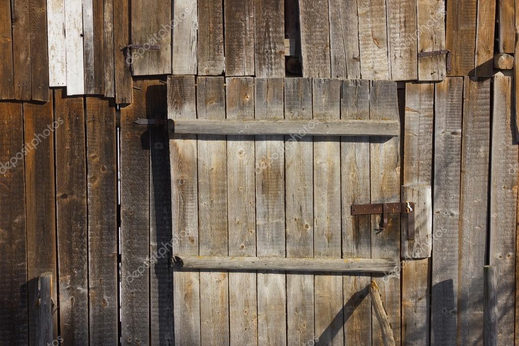 Old Wooden Barn Door Background Stock Photo Kirilart