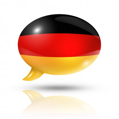 German flag speech bubble