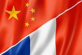 Photo China and France flag