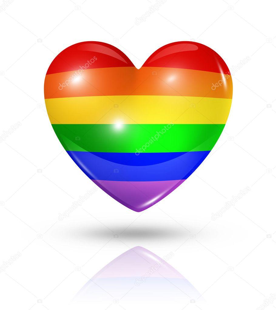 Gay pride love symbol heart flag icon stock photo daboost gay pride love symbol heart flag icon stock photo buycottarizona