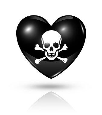 Love pirate, heart icon