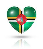 Love Dominica, heart flag icon
