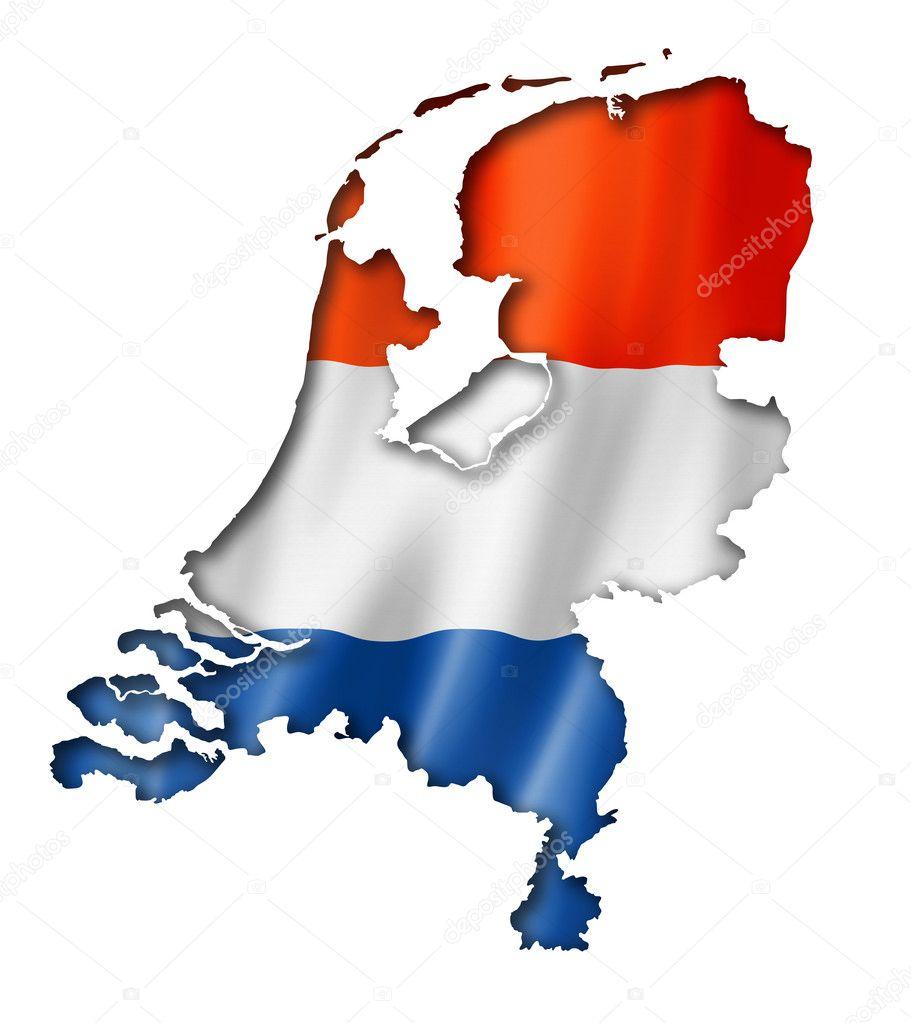 Netherlands flag map Stock Photo daboost 47283831