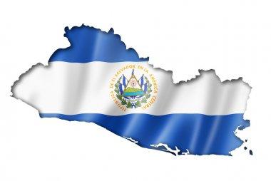 Salvadoran flag map