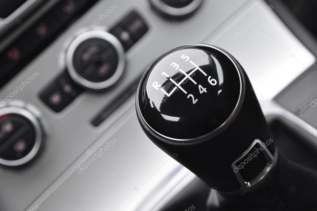 Manual car gear shift - Vertical picture