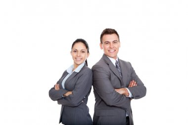 Business people team, hands folded