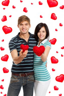 Love couple valentine day heart shape