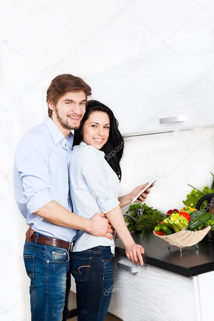 Couple at kitchen