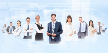 Businesspeople human resources concept