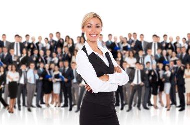 Businesswoman human resource leader