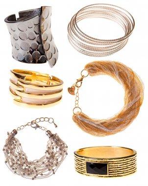 set bracelets, isolated