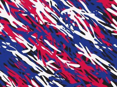 Patriotic Angular Seamless Camouflage