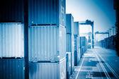 Fotografie Container Yard und Kran