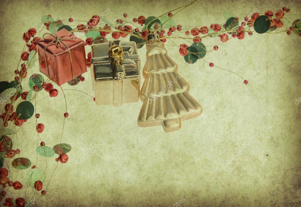 decoracin de navidad fondo de navidad vintage u imagen de archivo