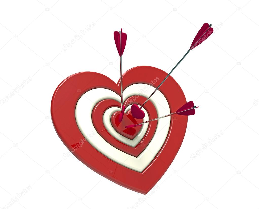 Heart shaped target and arrow stock photo boris15 35431205 heart shaped target and arrow stock photo thecheapjerseys Images