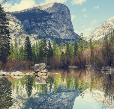 Yosemite landscapes stock vector