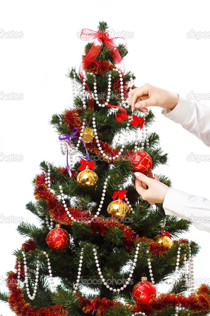 Weihnachtsbaum Dekorieren.Weihnachtsbaum Dekorieren Stockfoto Mrakor 36629237