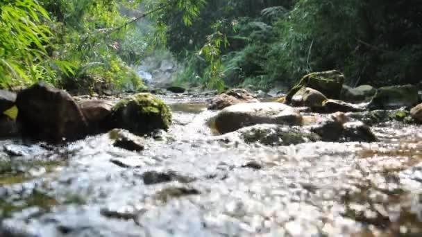 Vymazat teče potok, vody a kamenů