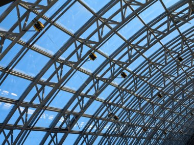 Structures of skylight glass roof window