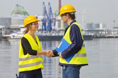 Greeting harbor workers