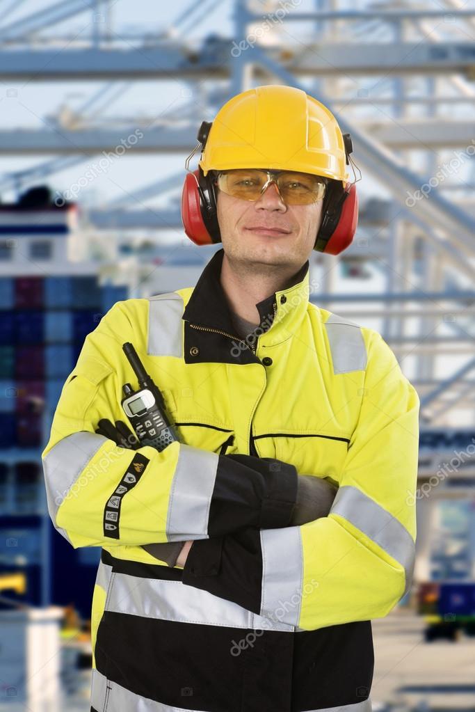 Portrait of a confident docker