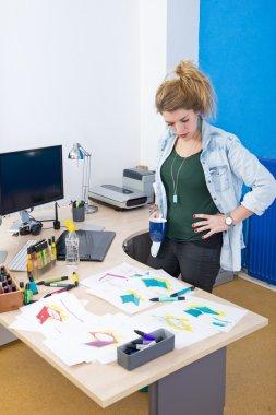 Creative designer at work