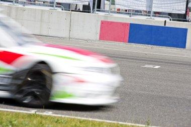 Race car on the grid