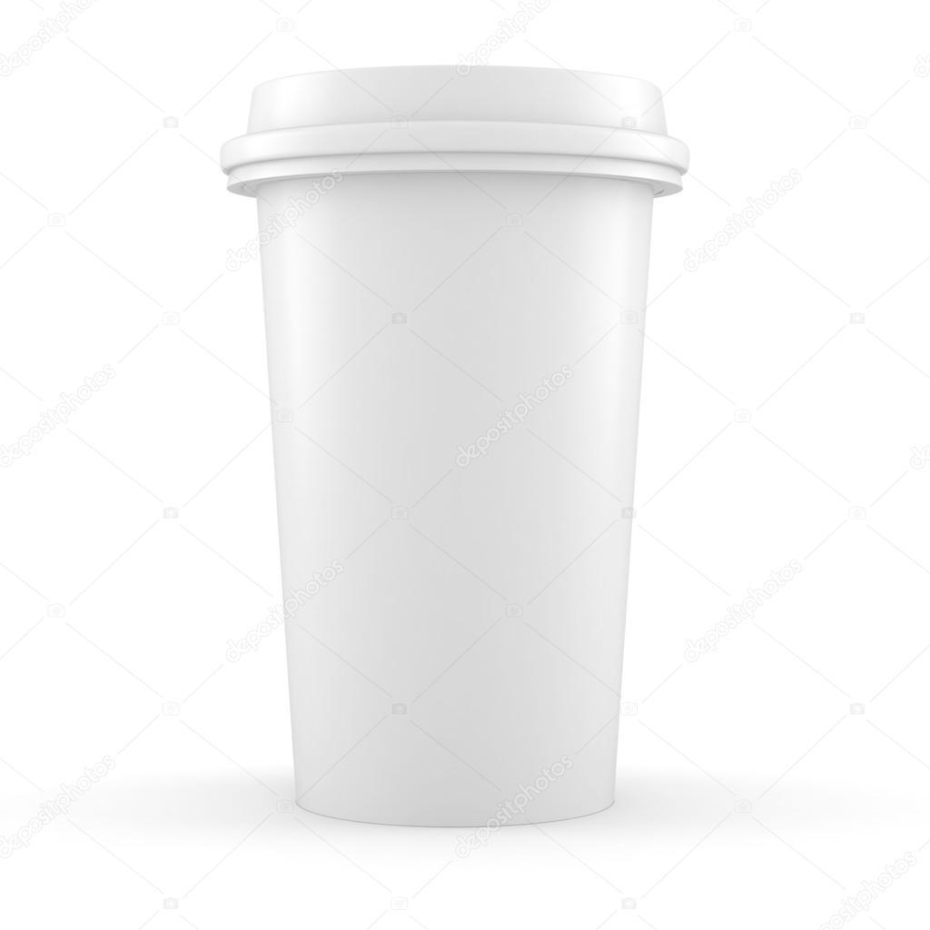 3d papier kaffeetasse auf wei em hintergrund stockfoto digitalgenetics 16903277. Black Bedroom Furniture Sets. Home Design Ideas