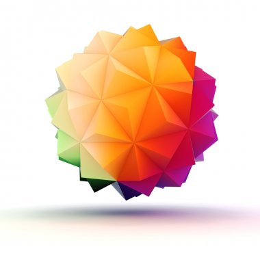 3d abstract object for your design