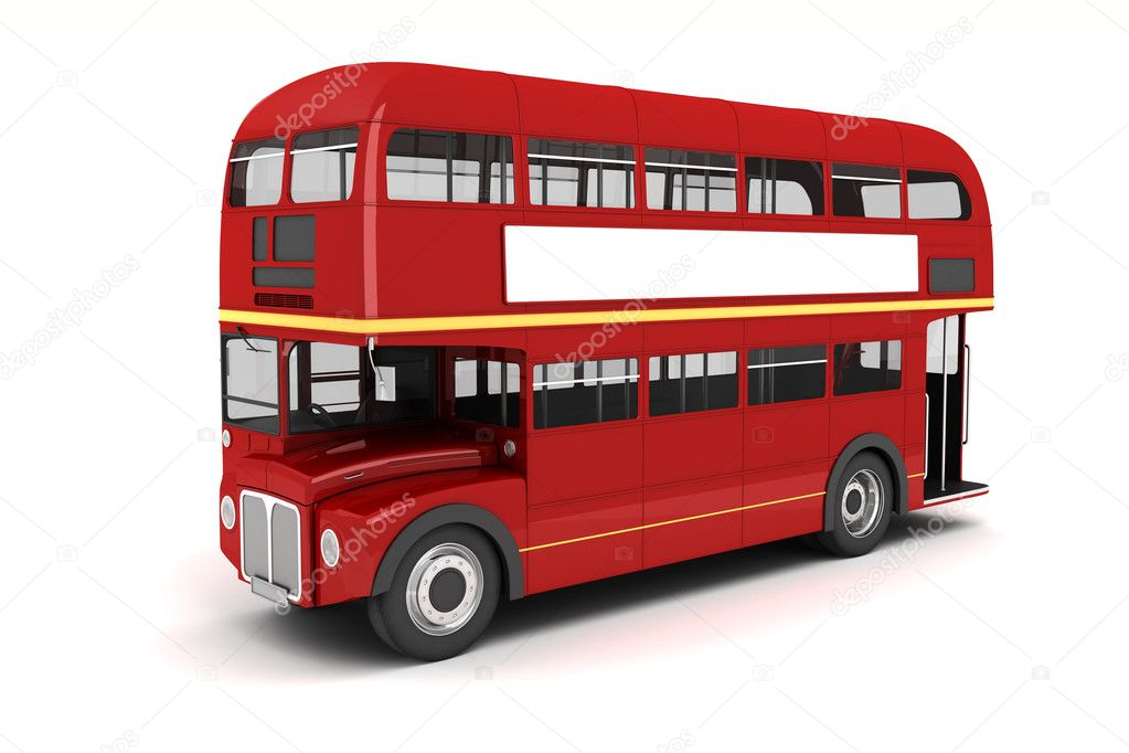 3d london bus auf wei em hintergrund stockfoto digitalgenetics 25925767. Black Bedroom Furniture Sets. Home Design Ideas