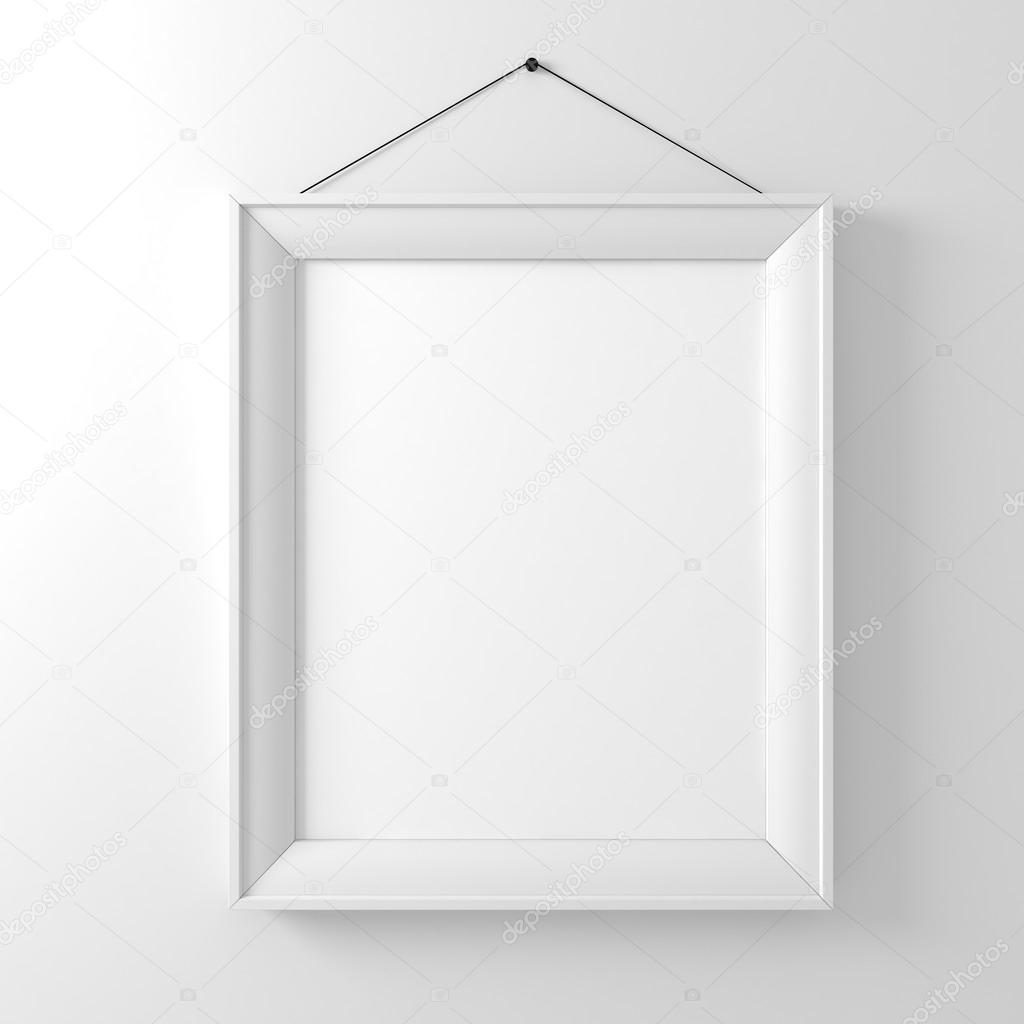 blank frame on white wall photo by digitalgenetics - White Frame
