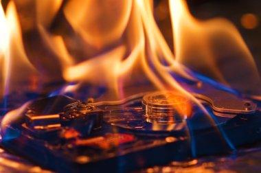 Computer hard disk burning