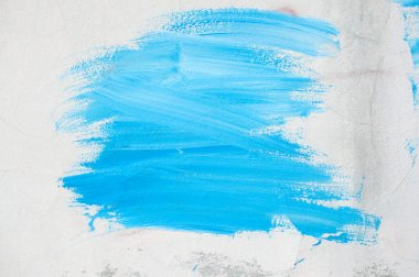 Blue paint on the wall