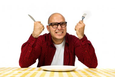 Man at the dinner table