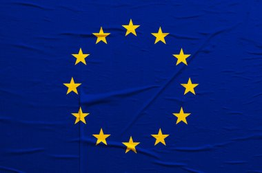 Grunge Europian Union flag