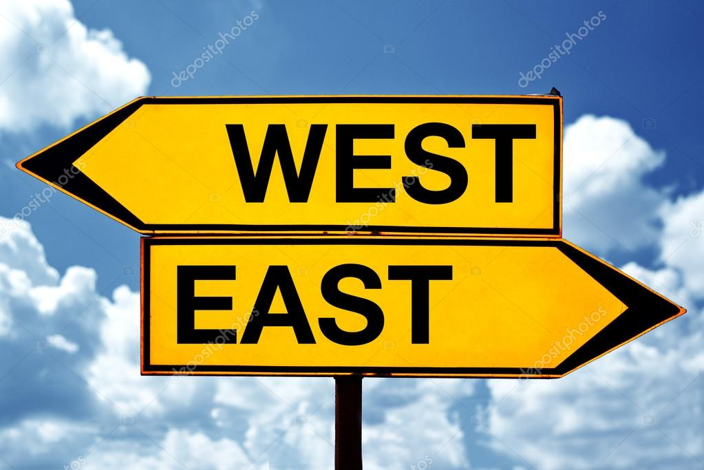 east west sign