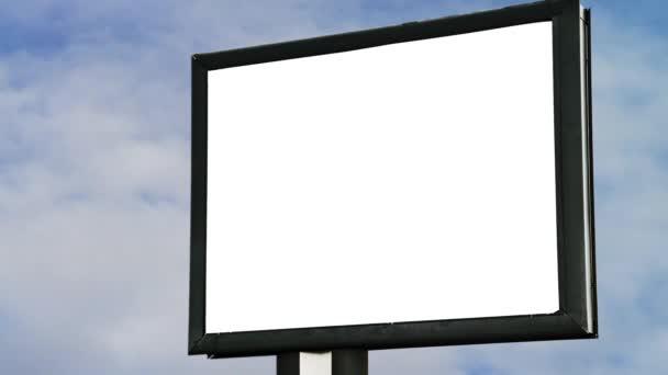 prázdné billboard s prázdnou obrazovkou
