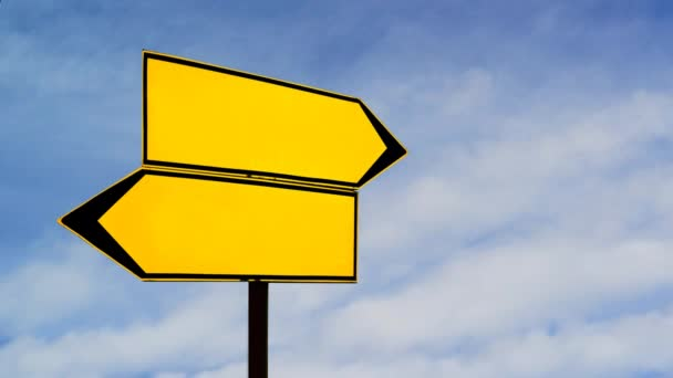 Two opposite direction signs