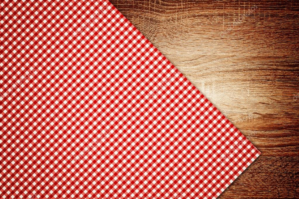 Kitchen Table Background table cloth, kitchen napkin on wooden background. — stock photo