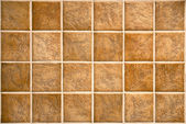 Photo Beige mosaic ceramic tiles for wall or floor.