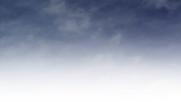 Papírové letadlo letící vzduchem, časová prodleva mraků v pozadí