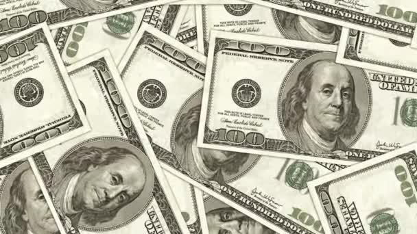 sto dolarové bankovky jako pozadí. hromadu peněz, finanční motiv