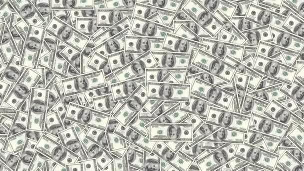 sto dolarové bankovky jako pozadí. hromadu peněz, finanční motiv.