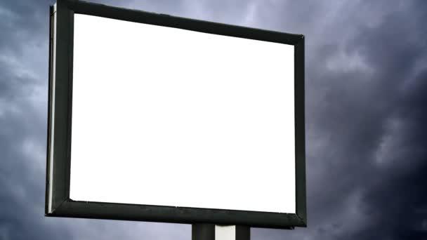 üres képernyő-felett cloud Időközű üres óriásplakát