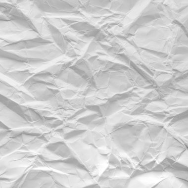 Crumpled paper texture as background for your design. stock vector