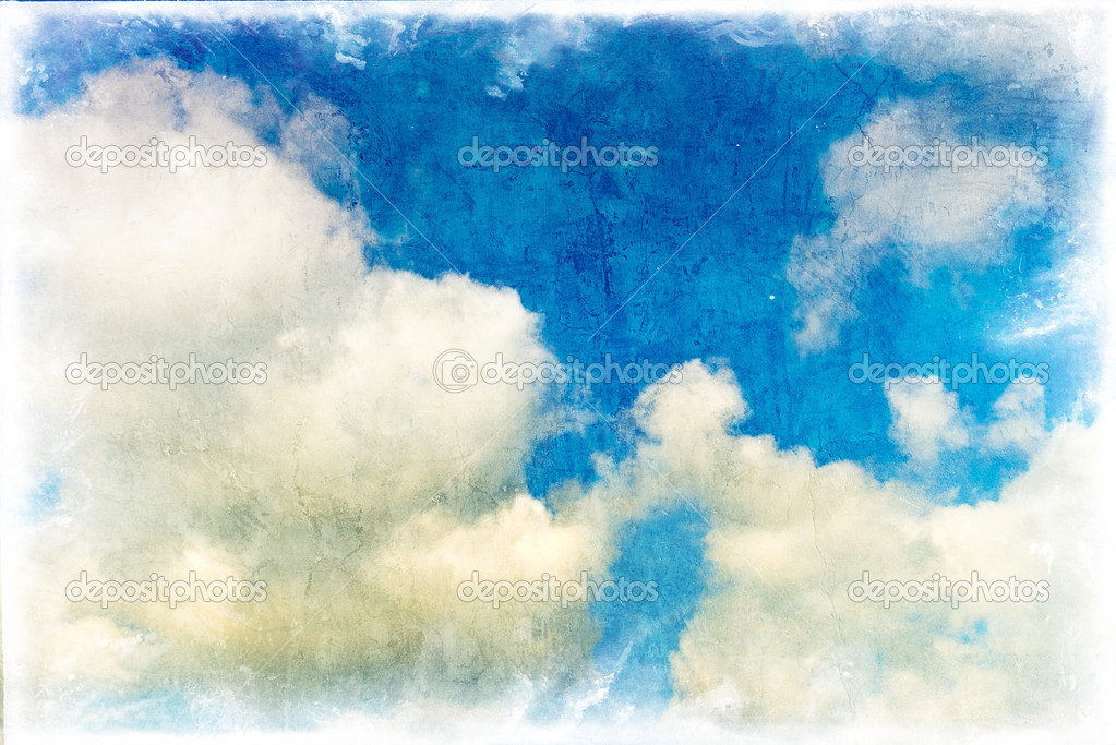 Grunge image of blue sky