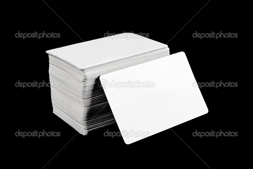 Visitenkarten Mit Abgerundeten Ecken Stockfoto