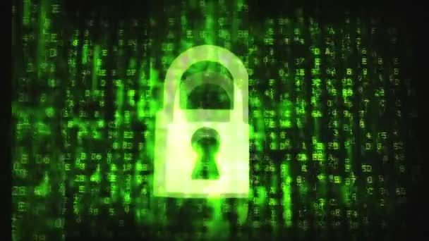 Prasklý bezpečnostní kód abstraktní obraz. ochrana heslem koncepční záběry. záběry vysoké rozlišení 1080p, hd, 1920 x 1080,
